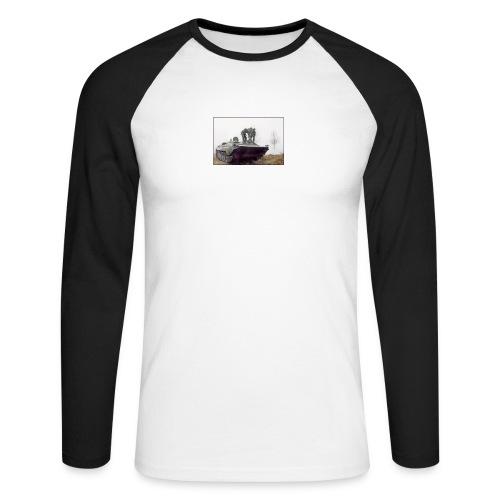 bwp2 - Koszulka męska bejsbolowa z długim rękawem
