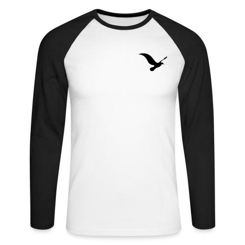 logo 3 - Langærmet herre-baseballshirt