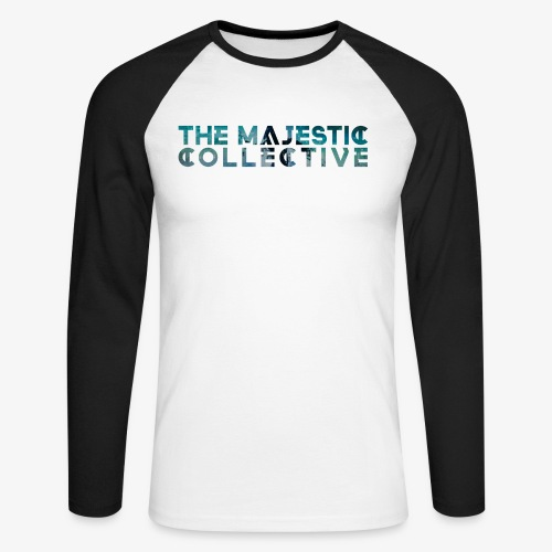 The Majestic Collective - Pixelish - Men's Long Sleeve Baseball T-Shirt