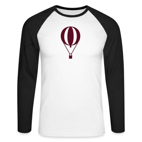 Gasballon prall - Männer Baseballshirt langarm