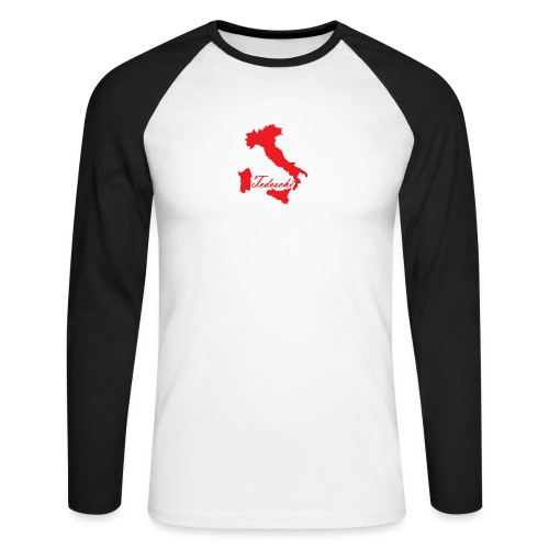 Tedeschi rouge - T-shirt baseball manches longues Homme