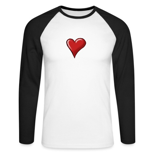 Love (coeur) - T-shirt baseball manches longues Homme