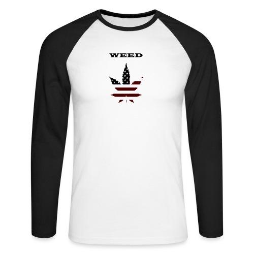 WEED Shirt - Männer Baseballshirt langarm