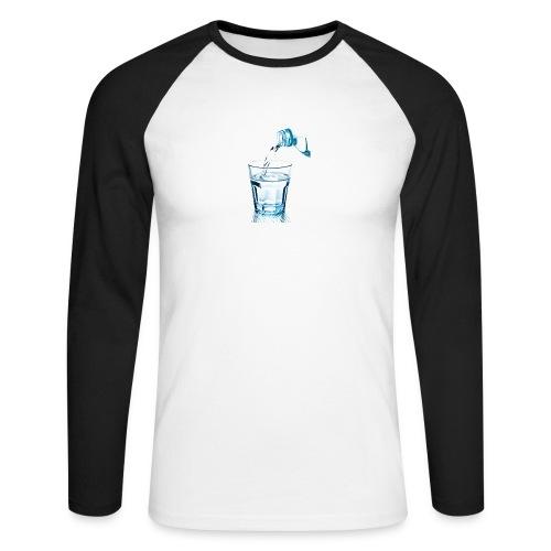 Glas-water-jpg - Mannen baseballshirt lange mouw