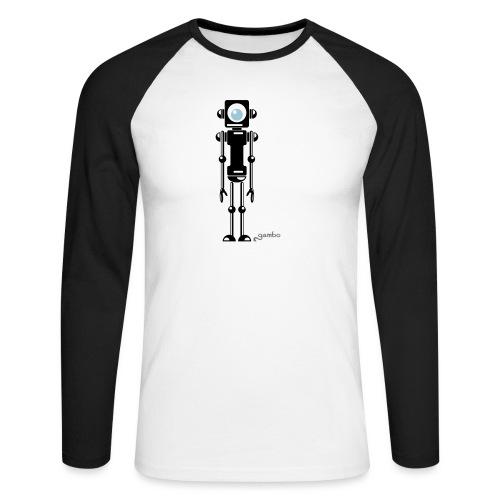 gambots roboter 04 - Männer Baseballshirt langarm