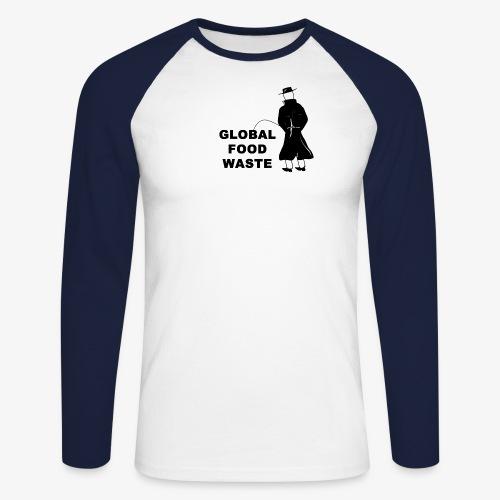 Pissing Man against Global Food Waste - Männer Baseballshirt langarm