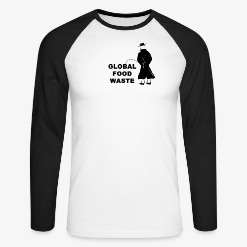 Pissing Man against Global Food Waste - Männer Baseballshirt langarm