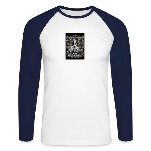 Johnny hallyday diamant peinture Superstar chanteu - T-shirt baseball manches longues Homme