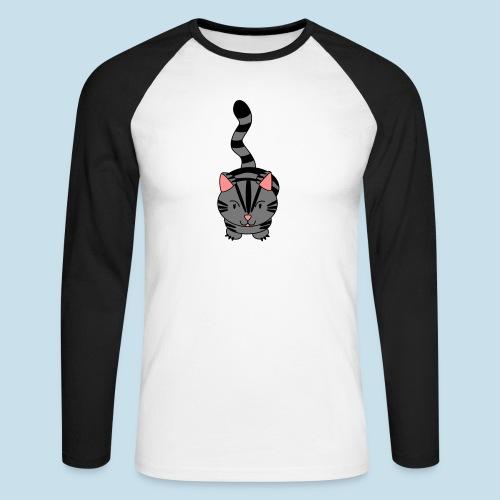Miau Katze - Männer Baseballshirt langarm