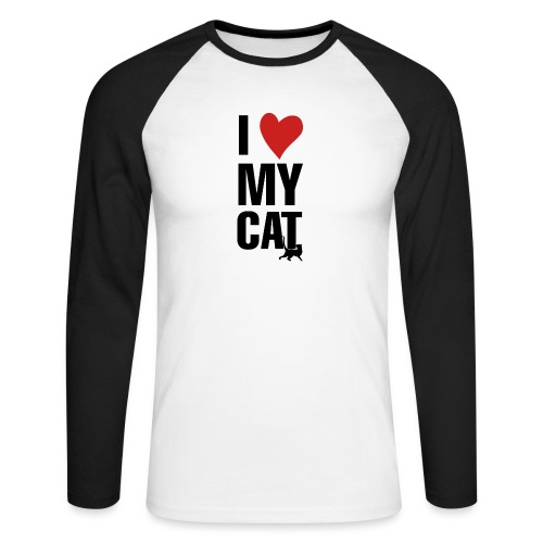 I_LOVE_MY_CAT-png - Raglán manga larga hombre