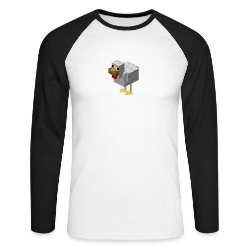 514px Chicken - Maglia da baseball a manica lunga da uomo