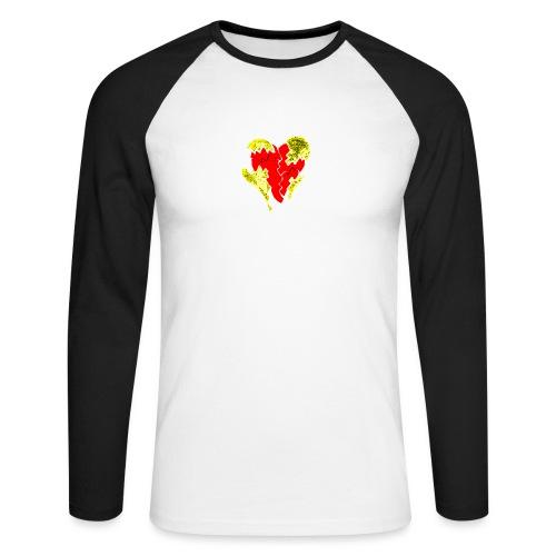 peeled heart (I saw) - Men's Long Sleeve Baseball T-Shirt