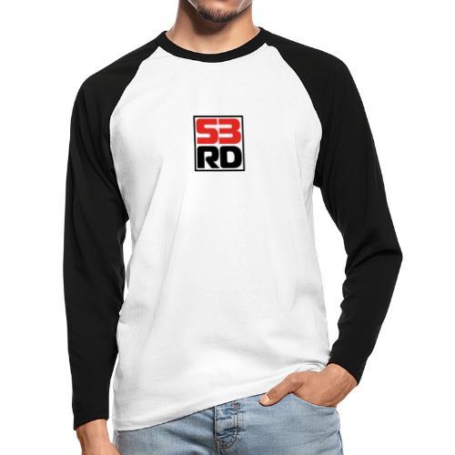 53RD Logo kompakt umrandet (schwarz-rot) - Männer Baseballshirt langarm