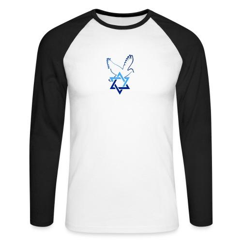 Shalom I - Männer Baseballshirt langarm