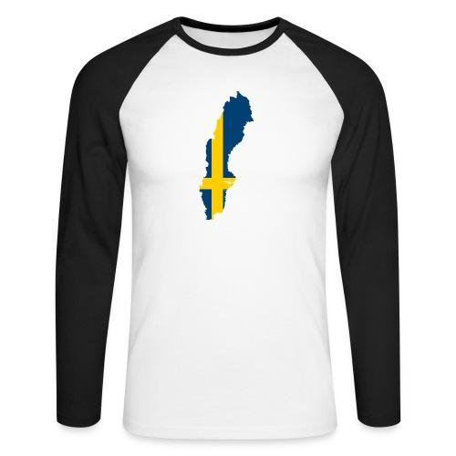 Sweden - Mannen baseballshirt lange mouw