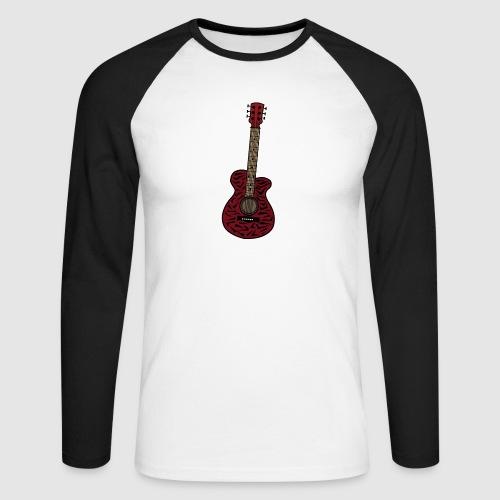 Gitarre - Männer Baseballshirt langarm
