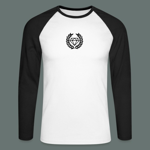 Black diamond Logo - Men's Long Sleeve Baseball T-Shirt