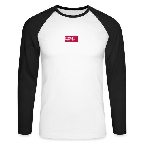 Red White Fashion Logo startup yourself motivation - Männer Baseballshirt langarm