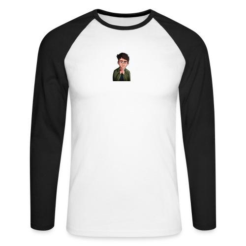Turtle Vibez Logo - Men's Long Sleeve Baseball T-Shirt