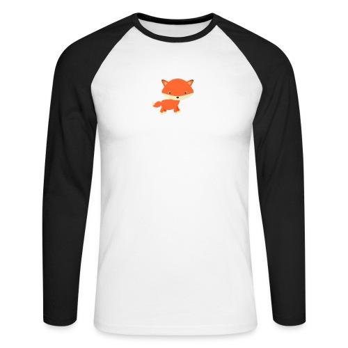 fox_1 - Mannen baseballshirt lange mouw