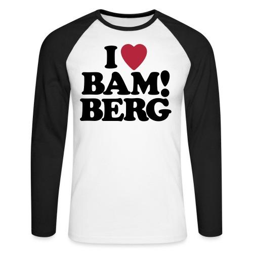 I Love Bamberg 2018 - Männer Baseballshirt langarm