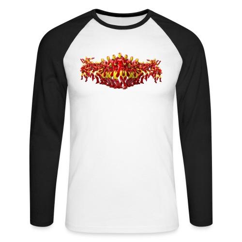 "Iron Man ""FLYING KICK"" - Männer Baseballshirt langarm"