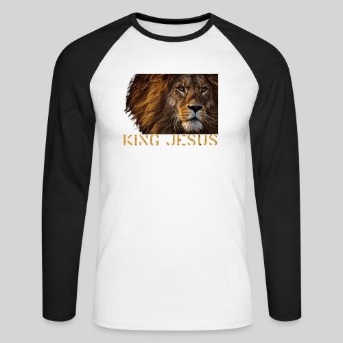 König Jesus der Löwe von Juda - Männer Baseballshirt langarm