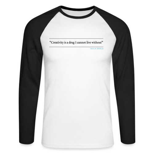 AW / DEMILLE QUOTE (Front) - Men's Long Sleeve Baseball T-Shirt