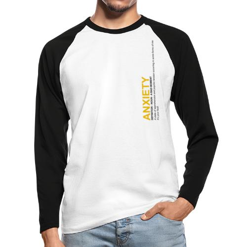 Anxiety Definition - T-shirt baseball manches longues Homme