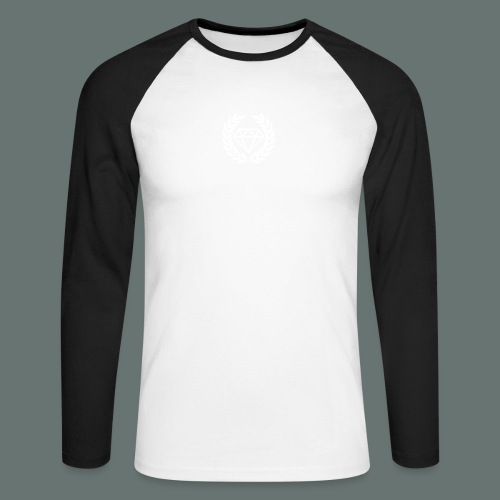 White Diamond - Men's Long Sleeve Baseball T-Shirt