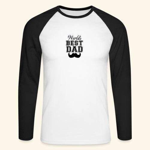 Worlds best dad - Langærmet herre-baseballshirt