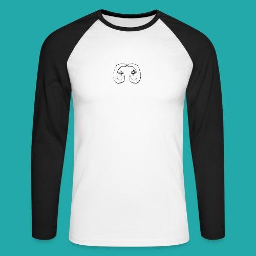 Crowd Control Logo - Men's Long Sleeve Baseball T-Shirt