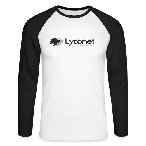 Lyconet White - Maglia da baseball a manica lunga da uomo