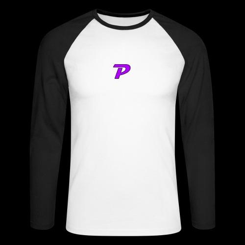 pandzyz - Langermet baseball-skjorte for menn