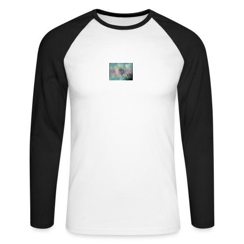Llama in a circle - Men's Long Sleeve Baseball T-Shirt