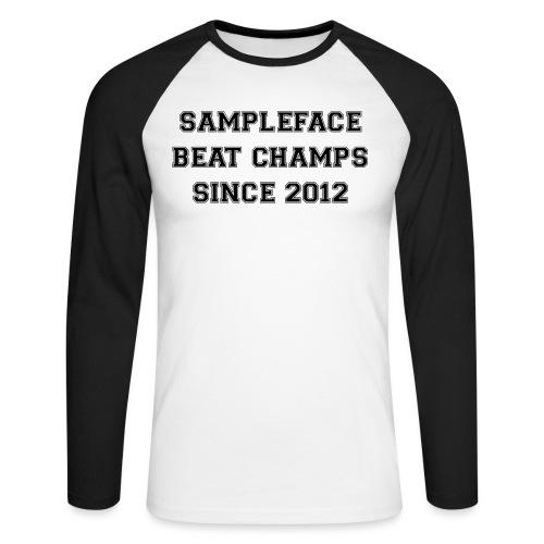 sampleface-beat-champs-de - Men's Long Sleeve Baseball T-Shirt