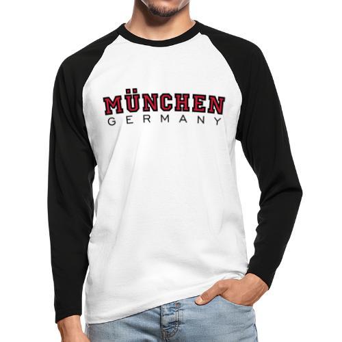 München Germany (Schwarz/Weiß) Deutschland - Männer Baseballshirt langarm