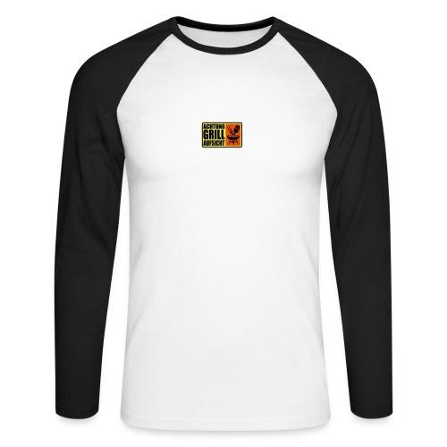 ACHTUNG GRILL-AUFSICHT - Männer Baseballshirt langarm