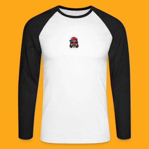 Pug the DJ - Männer Baseballshirt langarm