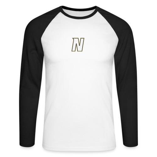 Nordic Steel WHITE N - Men's Long Sleeve Baseball T-Shirt