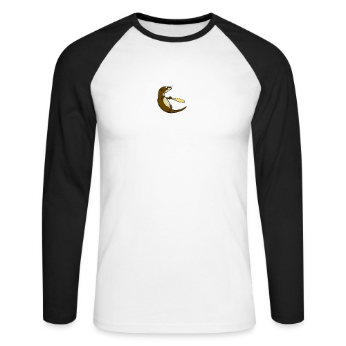 Classic Song of the Paddle otter logo - Men's Long Sleeve Baseball T-Shirt
