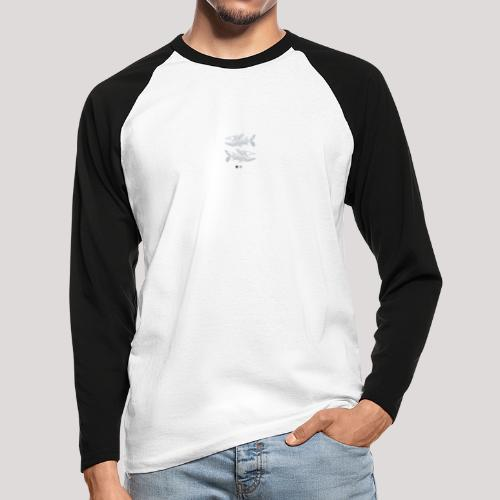 Fish05 - Men's Long Sleeve Baseball T-Shirt