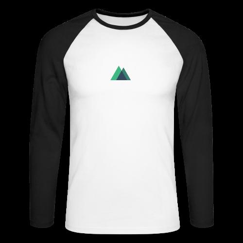 Mountain Logo - Men's Long Sleeve Baseball T-Shirt