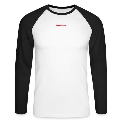 BlackBeast Rot matt - Männer Baseballshirt langarm