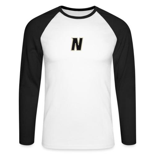 Nordic Steel Black N - Men's Long Sleeve Baseball T-Shirt