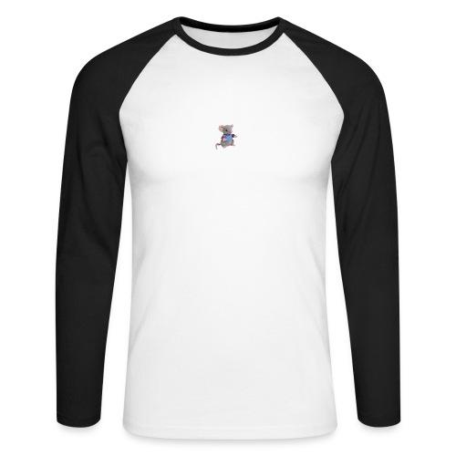 rotte - Langærmet herre-baseballshirt