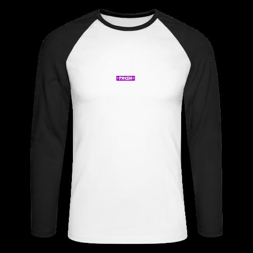 trish logo - Men's Long Sleeve Baseball T-Shirt