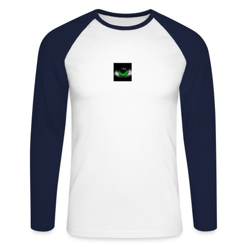 Green eye - Men's Long Sleeve Baseball T-Shirt