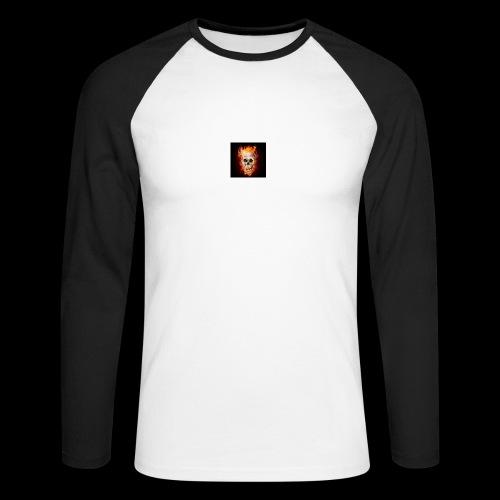 skullflame - Men's Long Sleeve Baseball T-Shirt