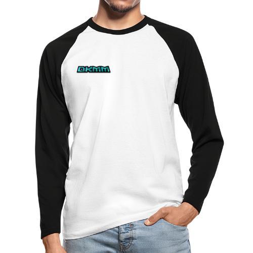 Simple Plasma DKMM Gaming Logo - Men's Long Sleeve Baseball T-Shirt